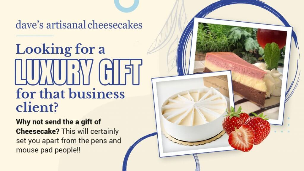 Daves Artisianl Cheesecakes offers a fantastic gift concierge service for employers